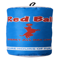Spot Fun Drink Red Ball Dog Toy Blue 1ea/9.5 in