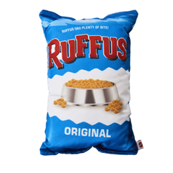 Spot Fun Food Ruffus Chips Dog Toy Blue 1ea/14 in