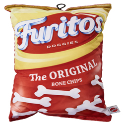 Spot Fun Food Furitos Chips Dog Toy Red 1ea/14 in