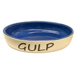 Spot Gulp Oval Cat Bowl Blue 1ea/6 in