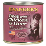 Evangers Heritage Classic Beef Chicken & Liver Can Dog Food 12ea/12.8oz
