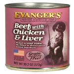 Evangers Heritage Classic Beef Chicken & Liver Can Dog Food 12ea/20.2oz