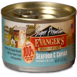Evangers Super Premium Seafood & Caviar Dinner Can Cat Food 24ea/5.5oz