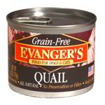 Evangers Grain-Free Quail Can Dog & Cat Food 24ea/6oz