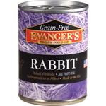 Evangers Grain-Free Rabbit Can Dog & Cat Food 12ea/12.8oz