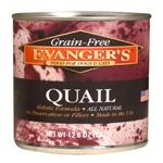 Evangers Grain-Free Quail Can Dog & Cat Food 12ea/12.8oz