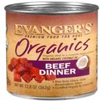 Evanger's Organics Beef Dinner Canned Dog Food 12ea/12.8 oz, 12 pk