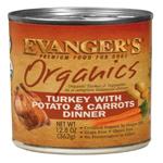 Evangers Organics Turkey with Potato & Carrots Dinner Can Dog Food 12ea/12.8oz