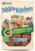 Milo's Kitchen Beef Sausage Slices with Rice Dog Treats 1ea/22 oz