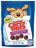 Canine Carry Outs Burger Minis Beef Flavor Dog Treats 1ea/25 oz
