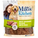 Milo's Kitchen Beef Sausage Slices with Rice Dog Treats 1ea/10 oz
