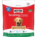 Milk-Bone Brushing Chews Dog Treat 1ea/Large - Dogs 50+ lb, 18 ct