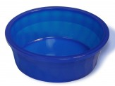 Van Ness Plastics Crock Heavyweight Dish for Dogs Translucent Crock Blue 1ea/106 oz, Jumbo
