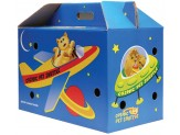 Cosmic Cat Shuttle Cardboard Cat Carrier Space Assorted 1ea