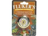 Fluker's Precision Calibrated Round Thermometer Beige 1ea