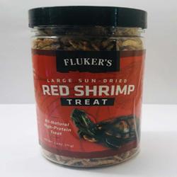 Fluker's Sun-Dried Red Shrimp Reptile Treat Large 2.5oz