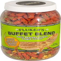 Fluker's Buffet Blend Adult Bearded Dragon Veggie Variety Freeze Dried Food 1ea/4.5 oz