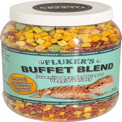 Fluker's Buffet Blend Juvenile Bearded Dragon Veggie Variety Freeze Dried Food 1ea/5 oz