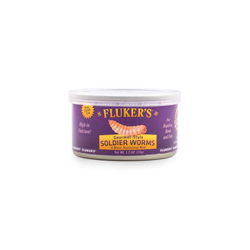 Fluker's Gourmet-Style Canned Soldier Worms Reptile Wet Food 1ea/1.2 oz