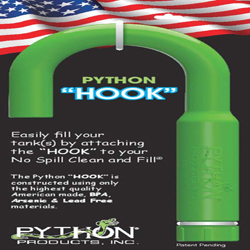 Python Hook for No Spill Clean and Fill 1ea