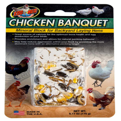 Zoo Med Chicken Banquet Mineral Block for Backyard Laying Hens Multi-Color 1ea/6.17 oz