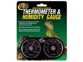 Zoo Med Precision Analog Thermometer & Humidity Gauge Black 1ea
