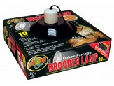 Zoo Med Deluxe Porcelain Clamp Lamp Fixture Black 1ea/10 in