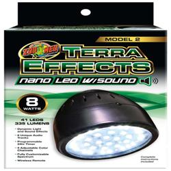 Zoo Med Terra Effects Model 2 Nano LED Light with Sound Black 1ea
