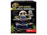 Zoo Med ReptiRapids LED Skull Waterfall Medium