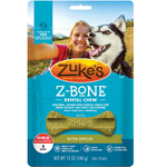 Zukes Dog Z-Bone Regular Apple 8 Count Pouch