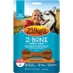 Zukes Dog Z-Bone Regular Carrot 8 Count Pouch