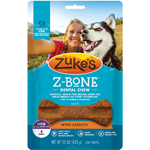 Zukes Dog Z-Bone Large Carrot 6 Count Pouch