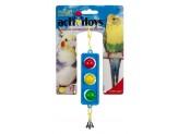 JW Pet ActiviToy Traffic Light Bird Toy Multi-Color 1ea/Small, Medium