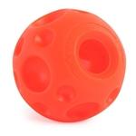 Omega Paw Tricky Treat Ball Dog Toy Orange 1ea/Medium, 3.5 in