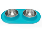 Messy Mutts Double Feeder Blue 1.5 Cup