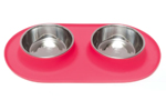 Messy Mutts Double Feeder Red 1.5 Cup