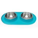 Messy Mutts Double Feeder Blue 6 Cup