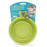 Messy Mutts Dog Collapsible Bowl Green 3 Cup
