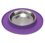 Messy Mutts Cat Feeder Silicone Purple