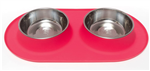 Messy Mutts Dog Double Feeder Red 3 Cup