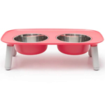 Messy Mutts Dog Double Feeder Elevated Red