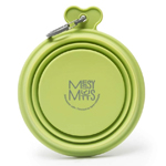Messy Mutts Dog Collapsible Bowl Green 1.5 Cup