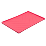 Messy Mutts Dog Silicone Mat Metal Rods Red Medium