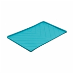 Messy Mutts Dog Silicone Mat Metal Rods Blue Medium