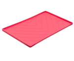 Messy Mutts Dog Silicone Mat Metal Rods Red Large
