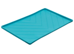 Messy Mutts Dog Silicone Mat Metal Rods Blue Large