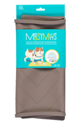 Messy Mutts Dog Silicone Mat Metal Rods Grey Large