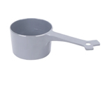 Messy Mutts Dog Cat Food Scoop 1 Cup Grey