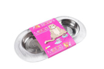 Messy Mutts Cat Double Feeder Silicone Marble