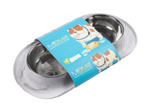 Messy Mutts Dog Double Feeder Marble 3 Cup